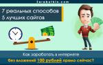 Быстрый заработок в интернете от 100 рублей в день – только проверенные способы и сайты