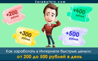 Заработок в Интернете 200, 300, 400, 500 рублей прямо сейчас без вложений, приглашений и обмана – 6 направлений