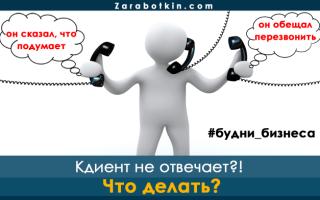 Что делать, если клиент не отвечает