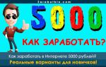 Как заработать в Интернете 5000 рублей без вложений и обмана прямо сейчас – 18 вариантов оффлайн и онлайн