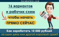 Как заработать 10000 рублей за день, за неделю, за месяц – 16 рабочих вариантов для каждого случая