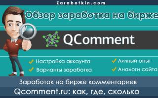 Заработок на Кьюкоммент (qcomment.ru) – обзор заданий, отзывы пользователей + мой личный опыт, сколько здесь можно заработать