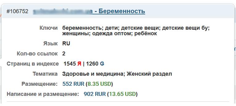 цены на статьи в Miralinks
